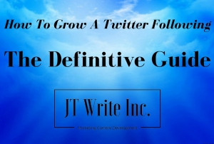 How To Grow A Twitter Following